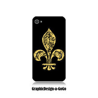 Fleur de lis, custom cell phone case, Iphone 4/4s case, original design