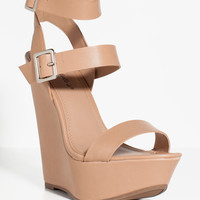 Valery-11 Double Strap Wedge