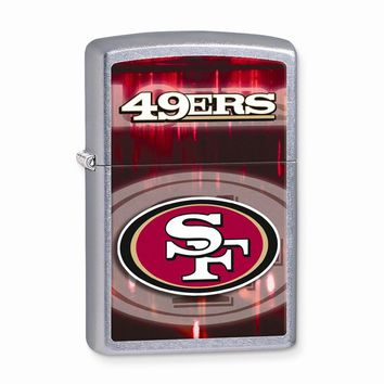 Zippo San Francisco 49ers High Polish Chrome Lighter - Engravable Gift Item