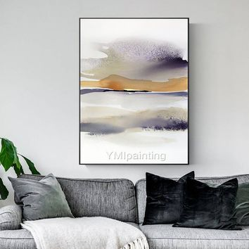 Mountain art abstract acrylic painting on canvas Original textured extra Large painting Wall Pictures handmade Home Decor caudros abstractos