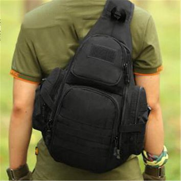 Sports gym bag 2017 New Arrive 14inch Unisex Travel Tactical Backpack Laptop Molle Military Backpack Nylon  Shoulder Sling Waterproof KO_5_1