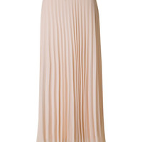 Pleated Maxi Skirt - Cream
