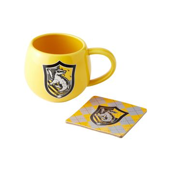 Harry Potter by Onimd Hufflepuff Crest Mug Coaster Set New with Box