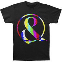 Of Mice & Men Men's  TV Static Ampersand T-shirt Black