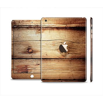 The Old Bolted Wooden Planks Full Body Skin Set for the Apple iPad Mini 3