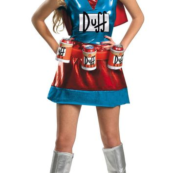 Simpsons Duffwoman Dlx 4-6 Costume for Halloween
