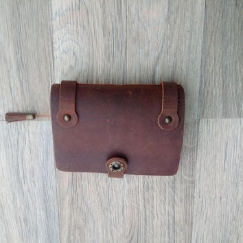 Leather A7 Notebook, Leather A7 Notepad Cover, Leather A7 Journal, A6 Notepad, leather A7 notepad,FREE SHIPPING