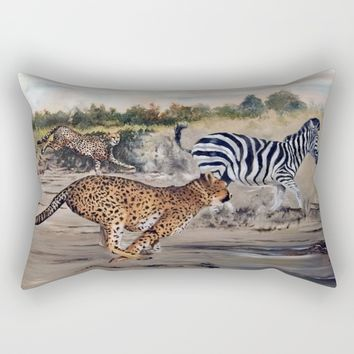 Season of the Cheetah - Cheetah Alley Rectangular Pillow by michael jon