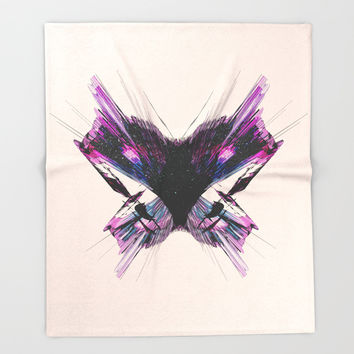 Electric Butterfly Throw Blanket by J.Lauren