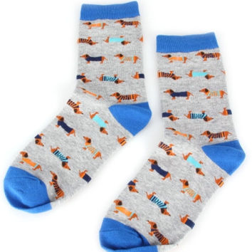 Silly Novelty Socks - Dachshunds, Hedgehogs, White Panda, Gray Panda, Bear in a Sweater, Watermelon or Burgers & Fries