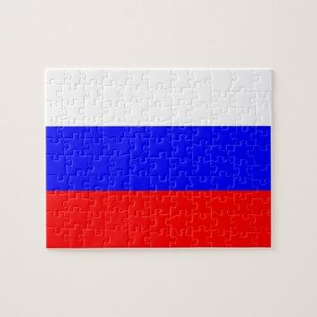 Puzzle with Flag of Russia