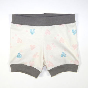 Heart of Hearts Organic Shorties {mamacase prints collab}