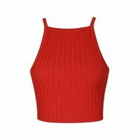 RIBBED KNIT TOP - Ally Fashion