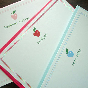 Personalized Children Spring Apple of my by TheStationerySisters