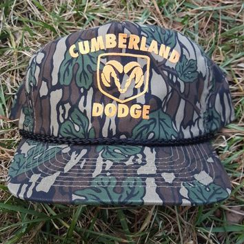 Dodge Trucks all over camo print snapback camouflage hat woodsmen