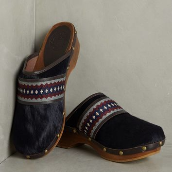 Penelope Chilvers Braided Pony Hair Clogs