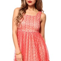 Full On Lace Flare Dress