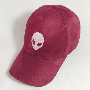 2016 aliens saucer man E.T UFO fans embroidery black snapback suede summer Baseball Cap Gorra Hip Hop Caps Suede Hats for Ladies