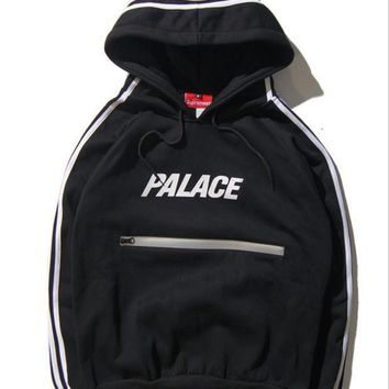 PALACE Hooded cashmere sweater reflective jacket