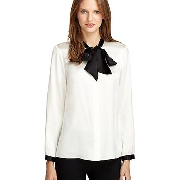 Women's Silk Bow Blouse
