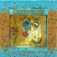 Dia De Los Muertos - Immortal Beloved- Hefeweizen - Handmade Recycled Tile Coaster
