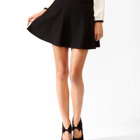 Ribbed Skater Skirt