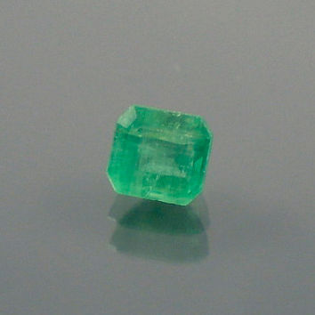 Emerald: 0.53ct Green Emerald Shape Gemstone, Natural Hand Made Faceted Gem, Loose Precious Beryl Mineral, Cut Crystal Jewelry Supply 20078
