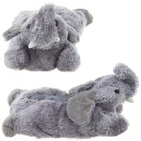 Wishpets Adult M Grey Elephant Feet Slippers