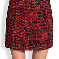 Alice + Olivia - Elana Metallic Tweed Mini Skirt - Saks Fifth Avenue Mobile