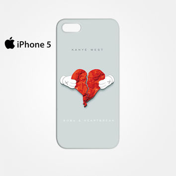 Kanye West Hearbreak for Iphone 4/4S Iphone 5/5S/5C Iphone 6/6S/6S Plus/6 Plus 3D Phone case