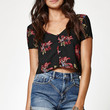 Kendall and Kylie Short Sleeve Button-Down Top at PacSun.com