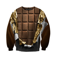 Gold Foil Chocolate Unisex Sweatshirt
