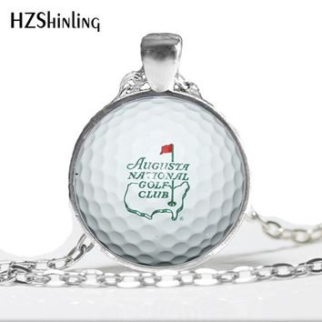 2017 New I Love Golf Necklace Keep Calm Quote Pendant Handmade Jewelry Glass Photo Cabochon Necklace Gifts Men