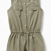 Sleeveless Utility Romper for Baby|old-navy