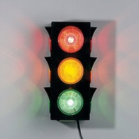 Large Blinking Traffic Light