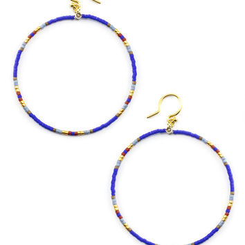 Chan Luu  ~  Royal Blue Mix Hoop Earrings