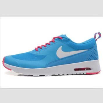 NIKE trend of fashion leisure sports shoes Sky blue and white