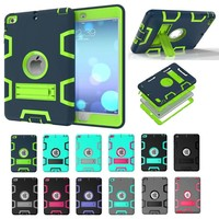 Kid Rugged Hybrid Shockproof Full Protective Case Cover For Apple iPad 2/3/4 3in1 Shockproof Heavy Duty Hard Case