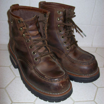 Skechers Leather Work Boots Women's Size 7