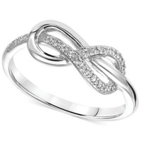 Diamond Accent Infinity Knot Promise Ring in Sterling Silver | macys.com