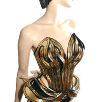Gaudi burningman bustle burlesque divamp couture fetish steampunk cosplay armor scifi clothing futuristic cybergoth