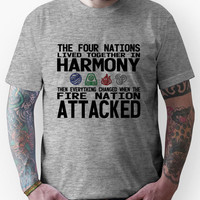 The Four Nations - Avatar: The Last Airbender (Black Text) Unisex T-Sh
