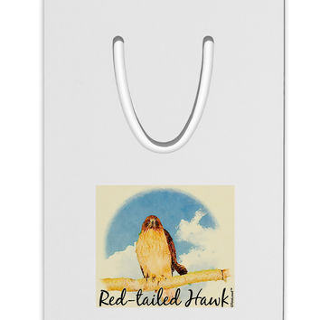 Red-tailed Hawk Text Aluminum Paper Clip Bookmark