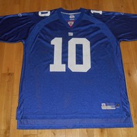 Reebok On Field ELI MANNING Blue Home NEW YORK GIANTS Mens NFL Team JERSEY 2XL