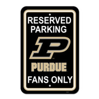 "NCAA Purdue Boilermakers 12"" X 18"" Plastic Parking Sign"