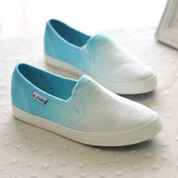 A071021 Gradient color canvas shoes to help low