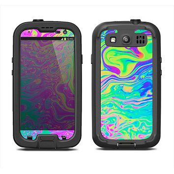The Neon Color Fushion Samsung Galaxy S3 LifeProof Fre Case Skin Set