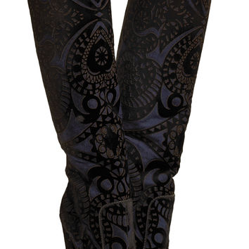 Elder appliquéd suede knee boots | Paul Andrew | UK | THE OUTNET