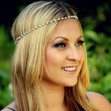 ca PEAPTM4 Simple Design Handcrafts Pearls Hair Accessories [8026193991]