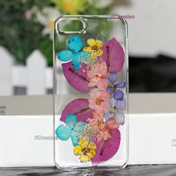 iphone 4 case iphone 4s case Iphone 5s case iphone 5 case Dried Dry daisies Pressed Real Flower resin iphone 5c cases